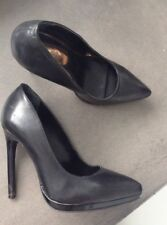 Genuine Leather black Stilettos Size 6 / Eu 37 by TOPSHOP In Excellent Condition