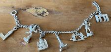 Silver Charms London Landmarks Bracelet - Charms X 7