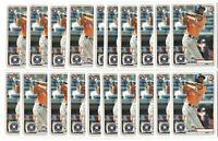 x50 YORDAN ALVAREZ 2020 Bowman #25 Rookie Card RC logo lot/set Houston Astros!!!