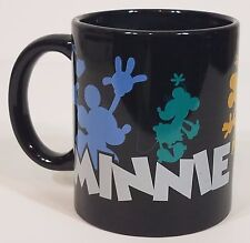 Disney Minnie Mouse multiple colored silhouette black coffee mug/cup