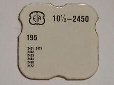ETA barrel arbor 2450 2451 2452 2453 2454 2460 2472 2474 part 195 arbre barillet