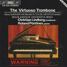 The Virtuoso Trombone: Christian Lindberg (CD, 1993, BIS) VERY GOOD / FREE S&H