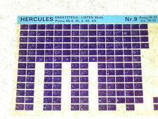 Microfich Ersatzteilkatalog Ersatzteilliste Hercules Mofa Prima 4 N 5 S SX 9/83
