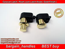 Caravan, Push Locks with Latches 10x ArmStrong Golden Motorhome Drawer Cupboard
