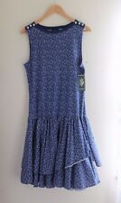 NWT Ralph Lauren -Sz L 10/12 Sailor Anchor Vintage Look Ruffled Jumper Dress