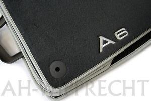 Original Audi RS6 S6 4G Fußmatten S-Line Premium A6 Allroad Velours Textil Matte