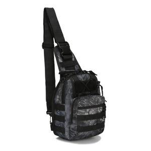 Mens Backpack Waterproof Tactical Sling Chest Pack Shoulder Bag Outdoor Hiking