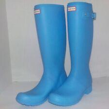Hunter ORIGINAL TOUR Wellington Waterproof Rain Boots MATTE BLUE Woman Size 11