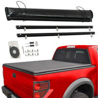 For 2015-2018 Ford F150 5.5FT Truck Aluminum Soft Roll-Up Tonneau Bed Cover NEW