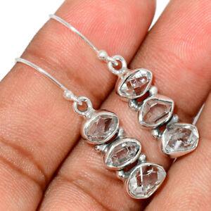 Herkimer Diamond, USA 925 Sterling Silver Earrings Jewelry BE46446
