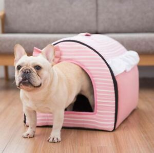 Pet Dog Cat House Beds Tent Sofa Mat Cushion Puppy Kitty Indoor house Size S,M,L