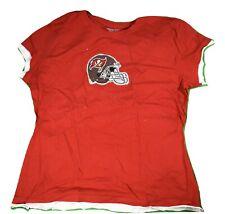 Reebok NFL Womens Tampa Bay Buccaneers Glitter Helmet Shirt NWT S, M, L, 2XL