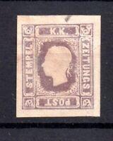 Austria 1858-59 1k Newspaper Stamp Cat Val £425 mint Spacefiller WS20771