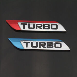 Blue Turbo Charger Chrome Metal Decal Emblem Badge Sticker For Nissan