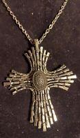 Stunning Vintage Brutalist/ Modernist  Cross Necklace