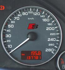 2 x Audi S-line Aufkleber für Tacho A2 A3 A4 A5 A6 A7 A8 RS TT Q7 Emblem Logo S