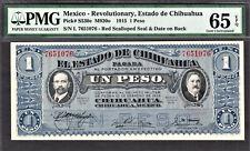 Mexico - Estado De Chihuahua One Peso Pick-S530e GEM UNC PMG 65 EPQ