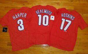 HARPER REALMUTO HOSKINS Philadelphia PHILLIES (3) Shirt YOUTH L jersey baseball
