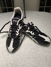Womens Size 9 1/2 Asics Track Cleat Shoes Black/white