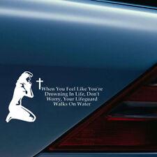 Hot CHRISTIAN VINYL CAR TRUCK WINDOW STICKER DECAL CROSS Prayer Jesus Religious