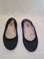Ugg australia black ballerina's Ladies shoes uk 4.5 ref bag07