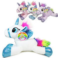 Cozy Unicorn Plush Pillow Stuffed Animal Bedtime Toy Cute Soft Kids Squeeze Gift