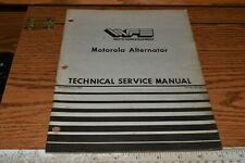 WFE White Motorola Alternator Technical Service Manual 432 887 2/85 2-135 2-155