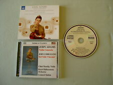 JOHN ADAMS Violin Concerto/CORIGLIANO Red Violin 'Chaconne' Hanslip Slatkin CD