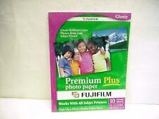 Fujifilm Premium Plus Color Glossy Photo Paper 8-1/2 x 11  10 sheets