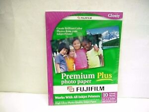 Fujifilm Premium Plus Color 8-1/2 x 11 Glossy Photo Paper  10 sheets