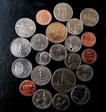 different coins of the United States of America & monedas de Estado Unidos USA