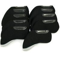 10X Universal Neoprene Iron Golf Club Head Covers Black Golf Fresh Accessories