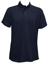 "2 X Uneek Olympic Polo Shirt Work Wear Plain Style Unisex Short Sleeves (uc124) XL 46"" Navy"