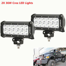 Cree LED 36W Work Light Bar Flood Beam Offroad 4WD 4x4 Driving Car ATV Truck