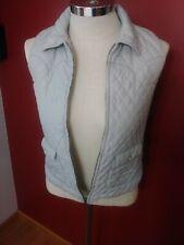 Roper Junior's Western Sleeveless Vest Front Zip Size XL (14) Grey Pearl Snaps