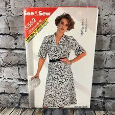 Butterick See Sew 5562 Vtg Misses Top Skirt Uncut Sewing Pattern Size 14 16 18