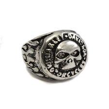 Metal Silver Harley Davidson Ring- Gothic Biker Rock Skull Motorbike Bike SKR 63