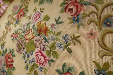 "31"" 400 Stitches Various Flowers Unique Handmade Pre-worked Needlepoint Canvas"