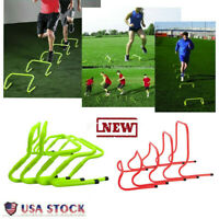 """6"""" Speed & Agility Fitness Training Hurdles Aid jump with Adjustable Height 5PCS"""