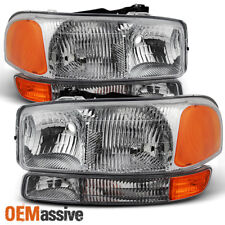 Fit 1999-2006 Gmc Sierra 2000-2006 Yukon Replacement Headlights L+R Bumper lamps (Fits: Gmc)