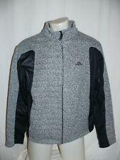 NORDCAP Freizeitjacke Outdoorjacke Jacke Strick & Softshell grau/schwarz XL