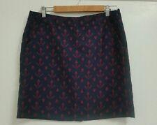 TOMMY HILFIGER AU Sz 12 Tailored Mini Skirt Anchors Sailor USA Vintage Navy