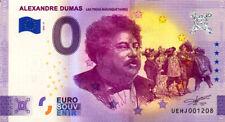 37 DESCARTES Alexandre Dumas - Les 3 mousquetaires, 2021, Billet Euro Souvenir