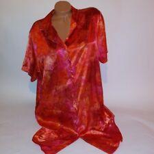 Cacique Sleep Shirt Night Gown Red Orange 14/16 Short Sleeve Pajama