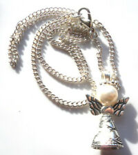 "Handmade using Swarovski Elements Silver Guardian Angel 18"" Chain with Gift Bag"
