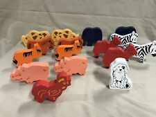 Farm Zoo Animals Lot of 17 Compatible with Thomas Wooden Railway Trains Engines