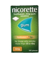 nicorette fruitfusion 4mg Gum. 105 Pieces. Expiry 09/21