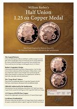 (2017) Smithsonian Barber $50 Half-Union Pattern Copper Proof Medal SKU50487