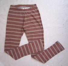 H&M Girls Multi Color Printed Striped Leggings ~ Size 14Y+