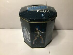 Vintage 1980 STAR WARS Empire Strikes Back Tin Container BANK